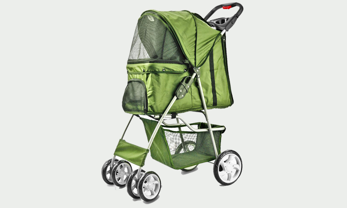 Classic Green Pet Stroller Under $50