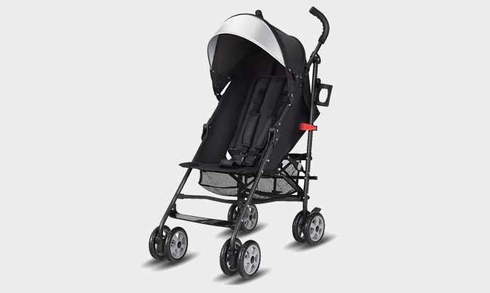 this photo Costzon Umbrella Stroller, Jogger with Storage Basket