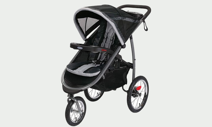 this photo is Graco Fastaction Fold Jogger Click Connect Stroller