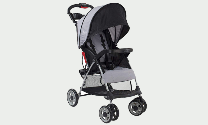 Kolcraft Cloud Plus Lightweight Easy Compact Fold Flat Stroller
