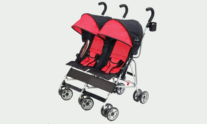 Kolcraft Side-by-Side Double Umbrella Stroller