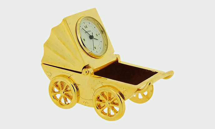 The Pram Plated With Gold