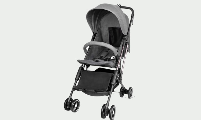 an image of besrey Airplane Stroller One Step Design for Opening